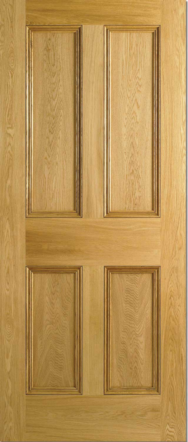 Oak doors oak 4 panel doors for 15 panel solid wood door