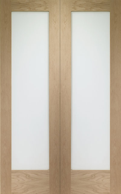 Pattern 10 Oak Interior Door Pair