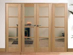 Interior door combinations internal door room dividers w8 oslo pre finished oak glazed clear glass planetlyrics Images