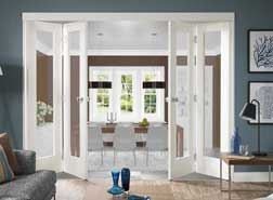 Exceptionnel White Interior Folding Doors