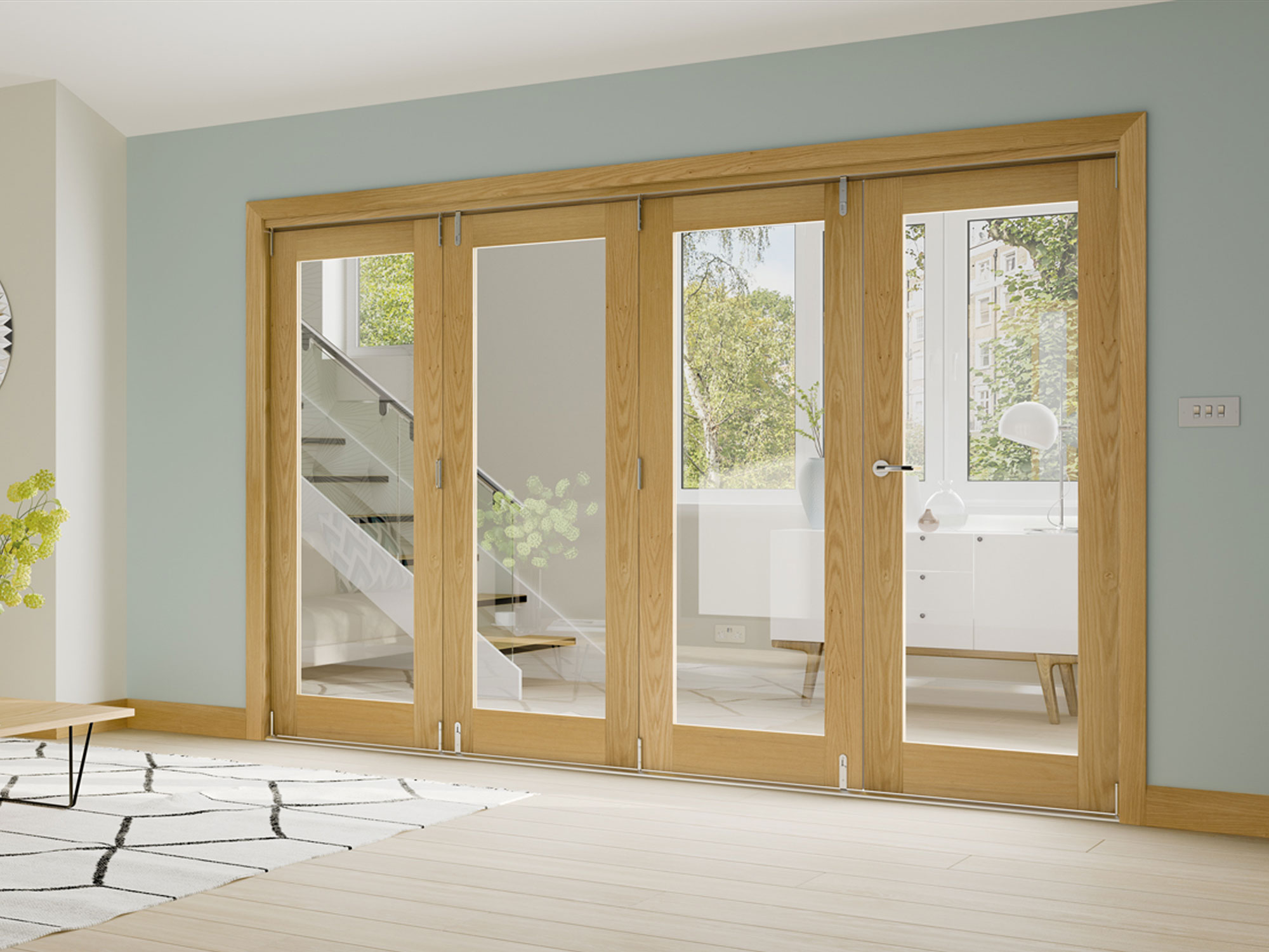 Internal bi fold doors folding doors doors of distinction for Internal folding sliding doors