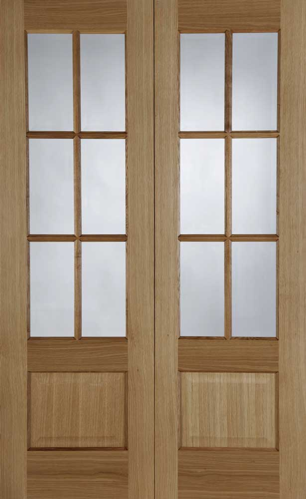 Hampstead Pre Finished Oak Interior Door Pair