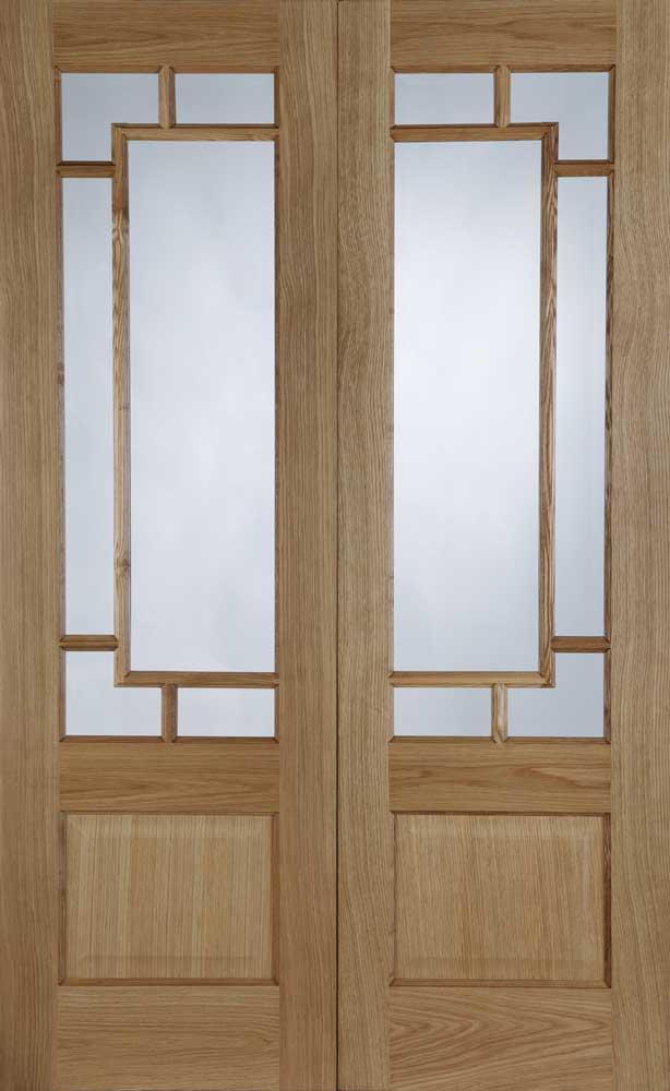 39 Orient 39 Pre Finished Oak Interior Door Pair