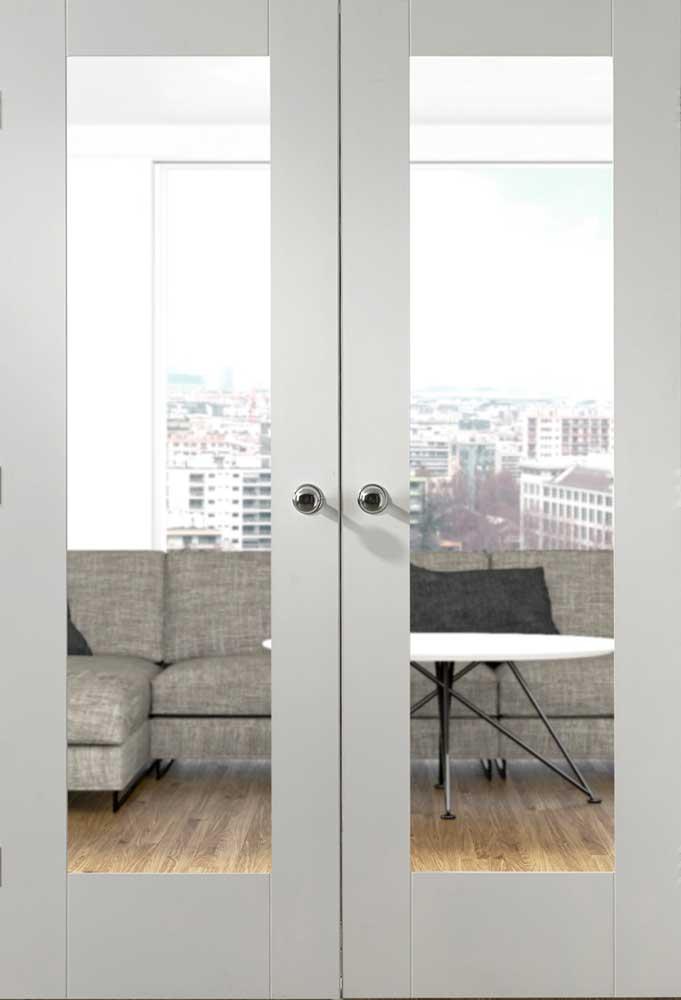 Pattern 10 White Interior Door Pair