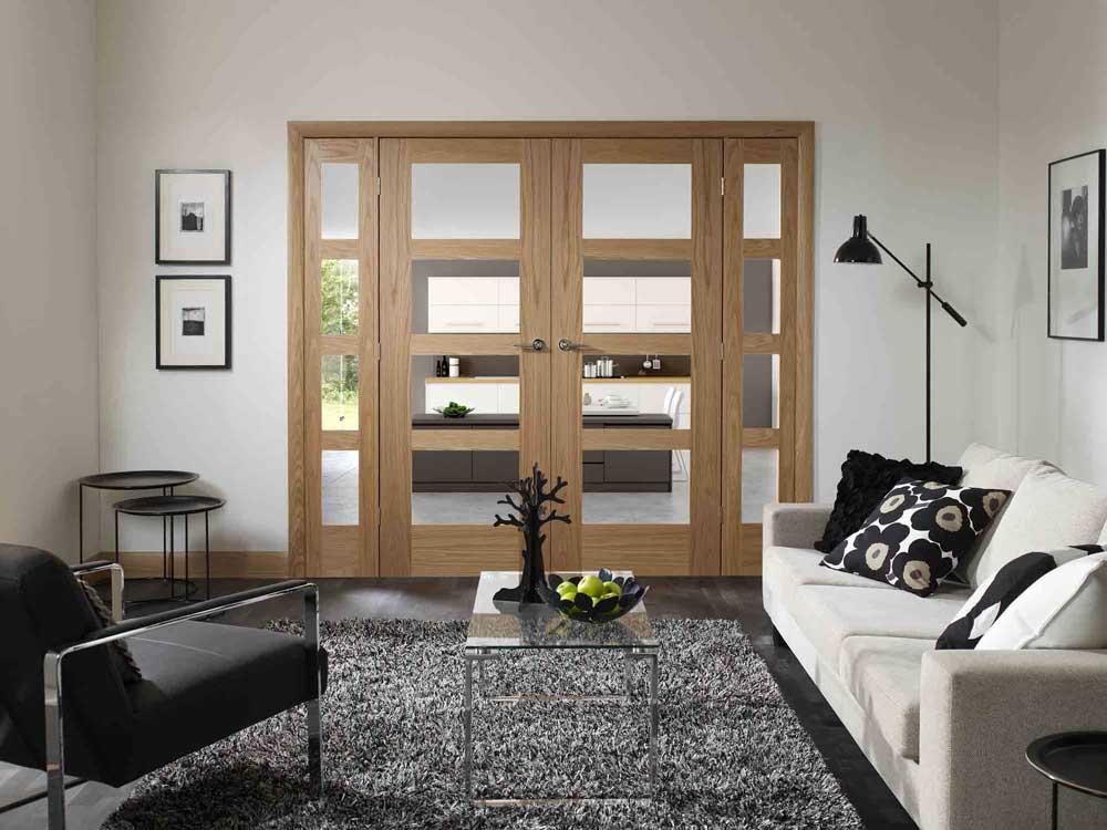 Classique 6l White Interior Door Pair