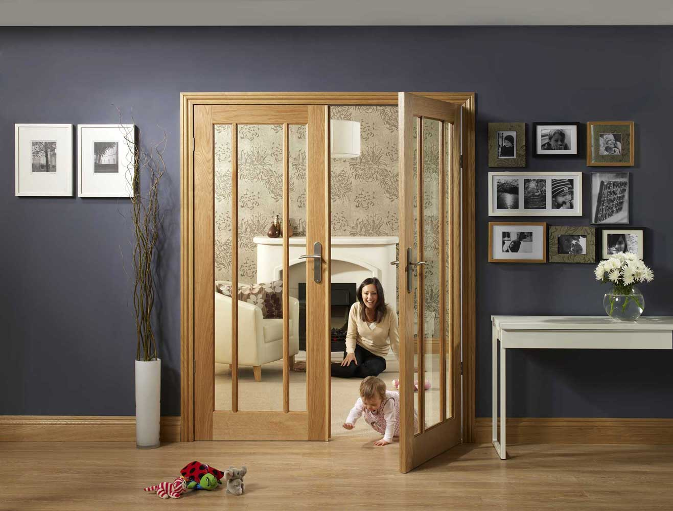 Worcester Oak Interior Door Pair
