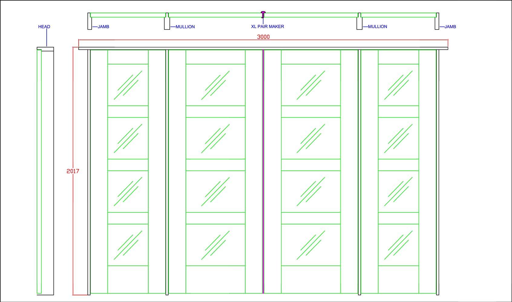 Inside doors for Door frame sizes