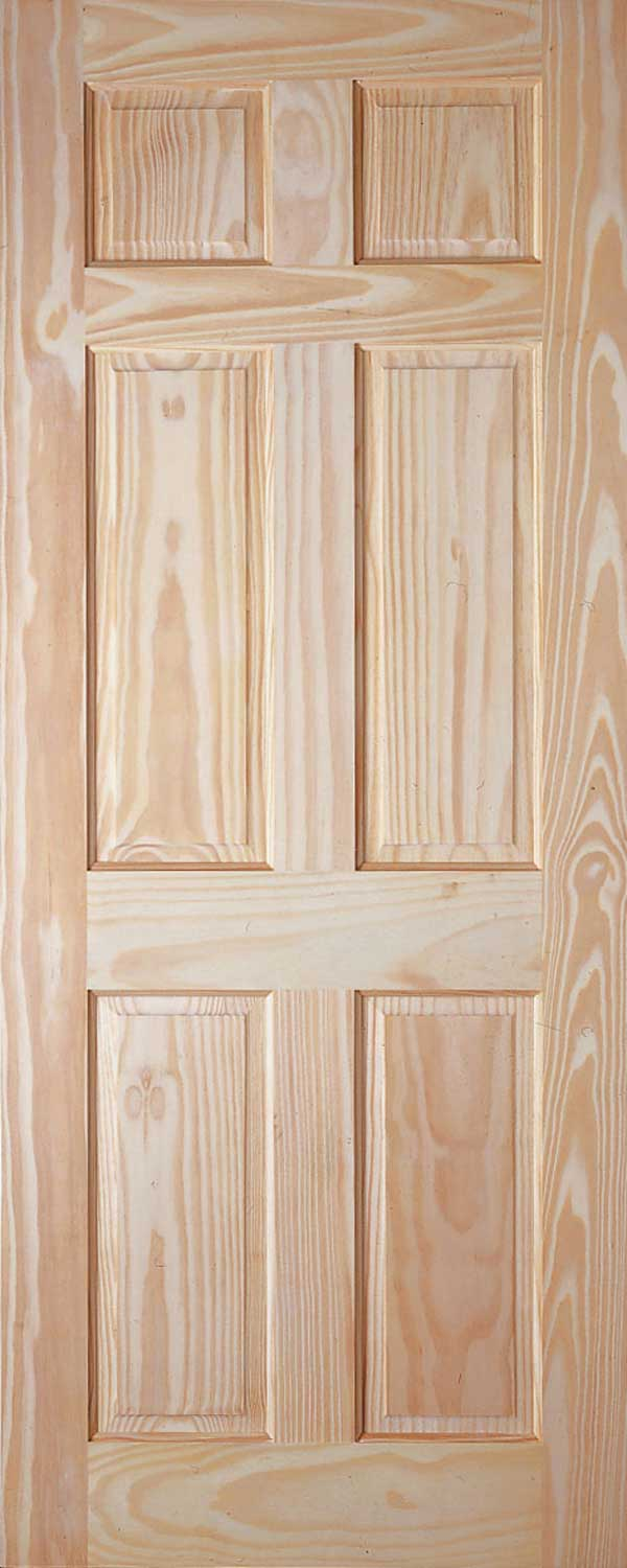 6 panel colonial pine door for 6 panel interior doors
