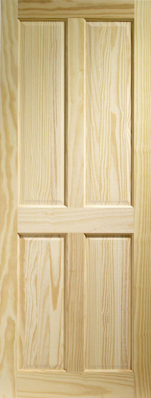 Victorian4 panel pine door for Door of distinction