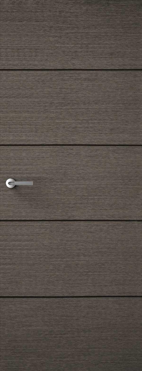 Portfolio 4 Line Charcoal Veneer Match Flush Doors