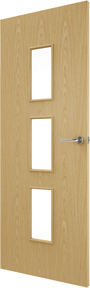 Portfolio 2 stile walnut veneer match flush doors for Designer interior doors uk