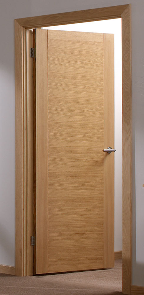 Aragon pre finished oak internal doors for Hardwood interior doors