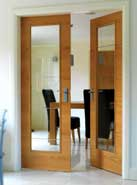 vt5  glass oak door