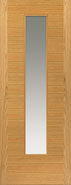 ostria oak glass door