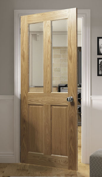 Bury 4 Panel Internal Pre Finished Oak Doors