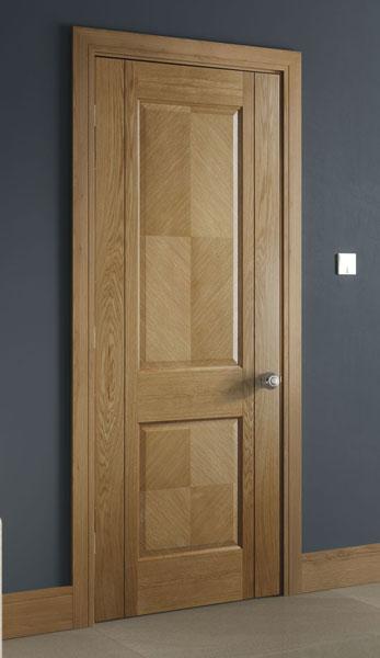 Kensington 2 Panel Internal Pre Finished Oak Doors