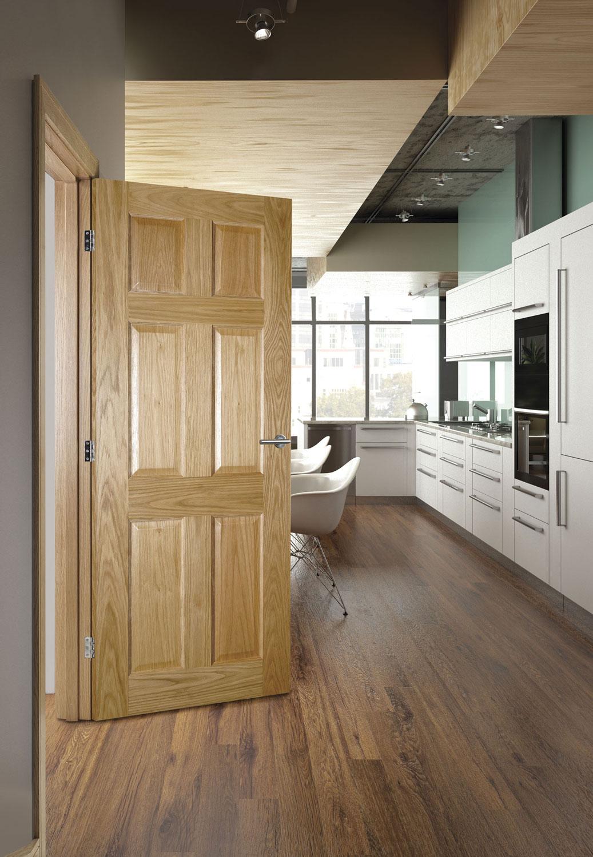 Oxford 6 Panel Internal Pre Finished Oak Doors