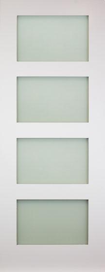 Contemporary 4 White Internal Door