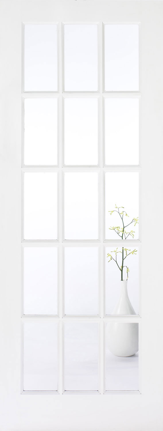 London 4 Panel 15 Pane Internal Solid White Doors