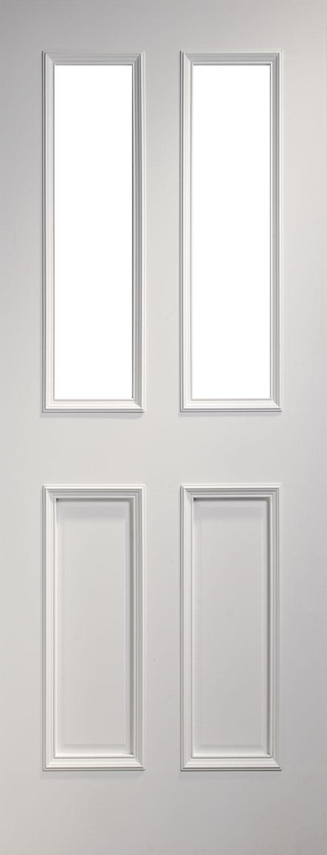 flat panel glazed doak oor & Rochester White Internal Door