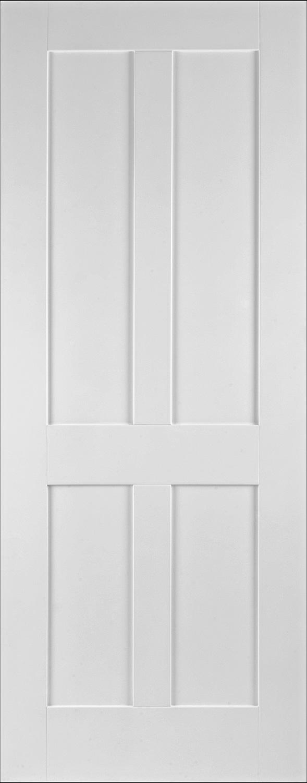 Shaker 4 Panel White Solid Glazed Doors