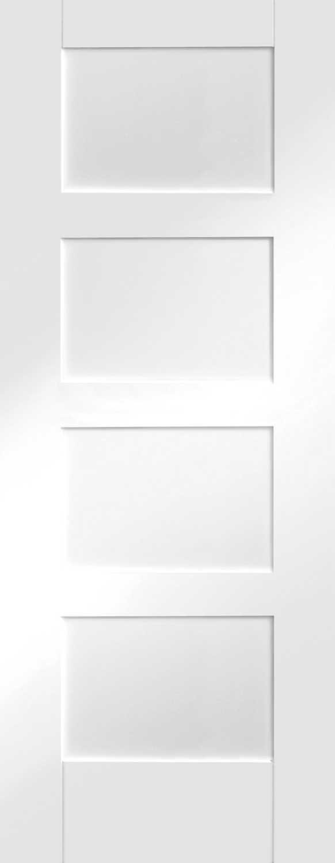 Shaker Contemporary 4 White Internal Door