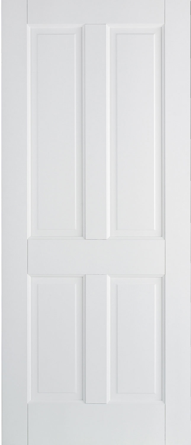 London 4 panel 15 pane internal solid white doors for White back door