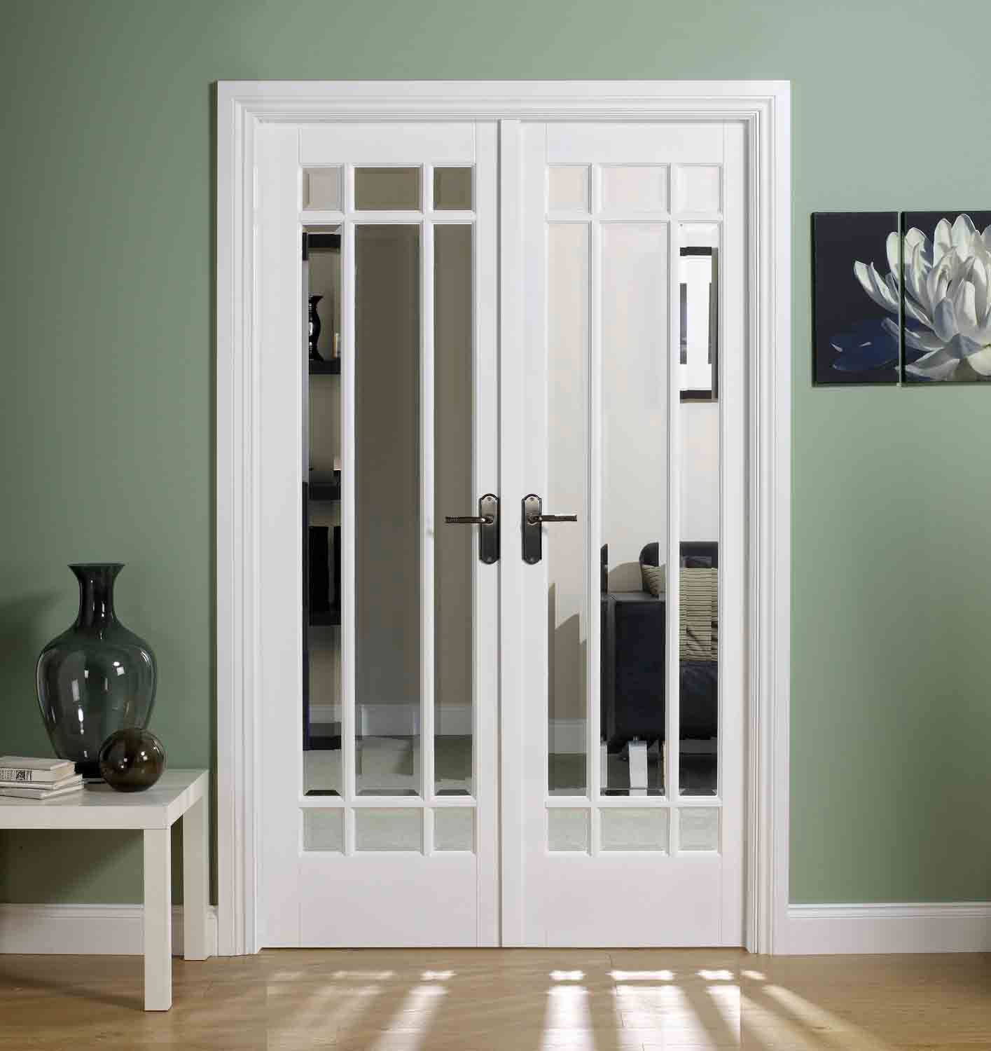 White manhattan glazed internal door - White doors with glass internal ...