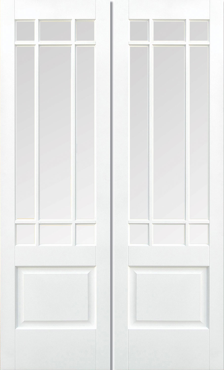 Downham White Interior Door Pair