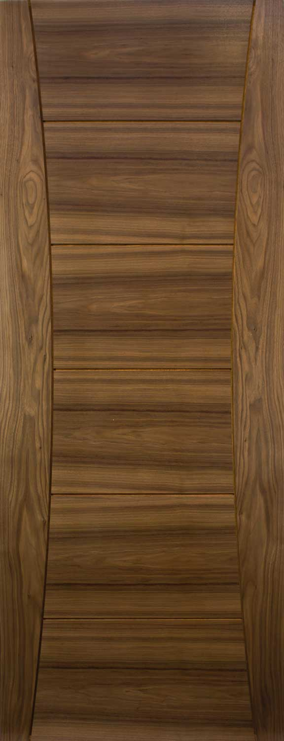 Pamplona Grooved Internal Pre Finished Walnut Doors