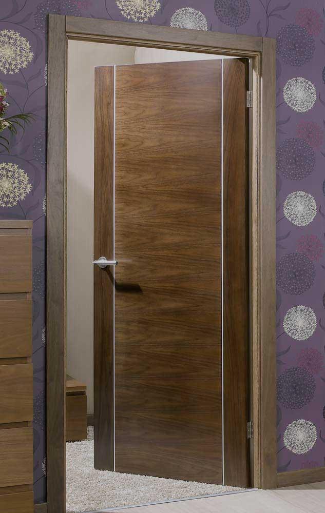 Alcaraz Walnut Inlaid Pvc Internal Door