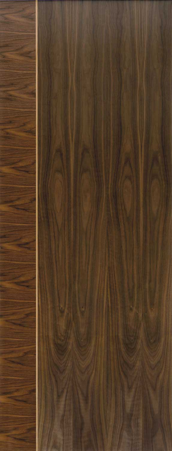 Mayette Edras Glazed Walnut Doors