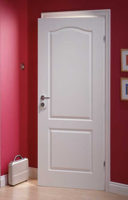 Classique textured white primed door for 15 light interior door white