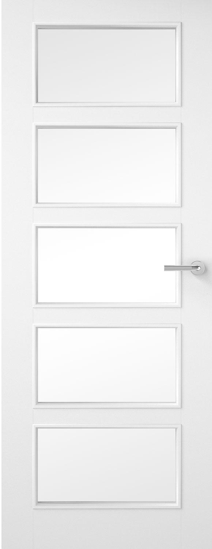 1 Pane Glazed Smooth White Primed Door