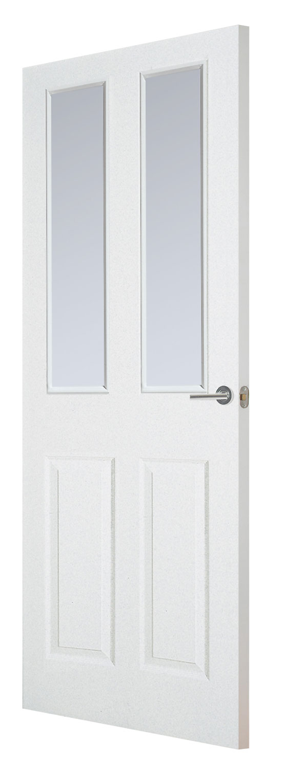 Coventry 4 panel smooth white primed door for Designer interior doors uk