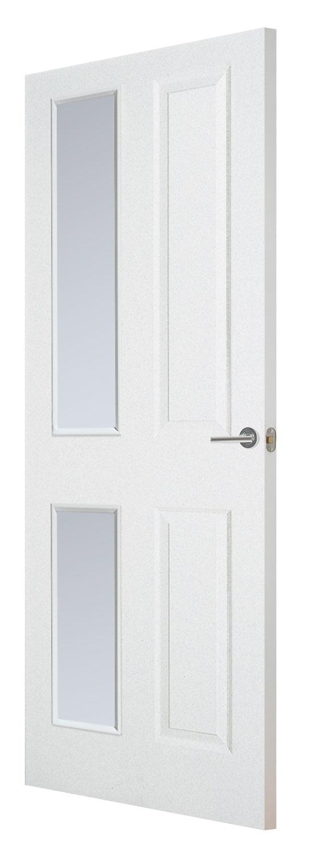 Interior white glass fire doors white glazed fire doors for Fire door design uk
