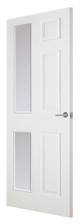 Regency 6 panel smooth white primed door for Fire door design uk