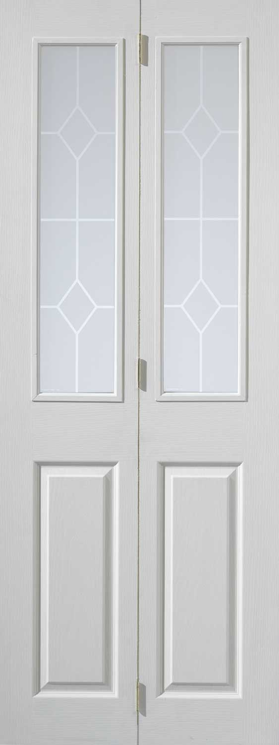 Canterbury Textured Bifold White Primed Doors