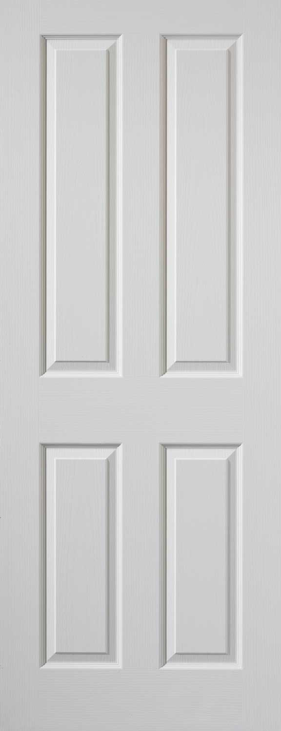 Coventry 4 panel smooth white primed door for Moulded panel doors