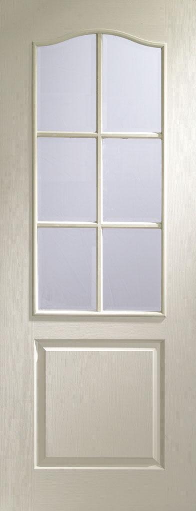 Classique 6 Light Textured White Primed Door
