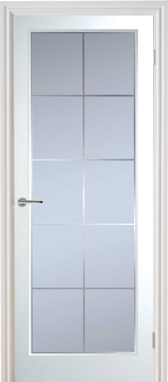 Manhattan 10 Light Textured White Primed Door