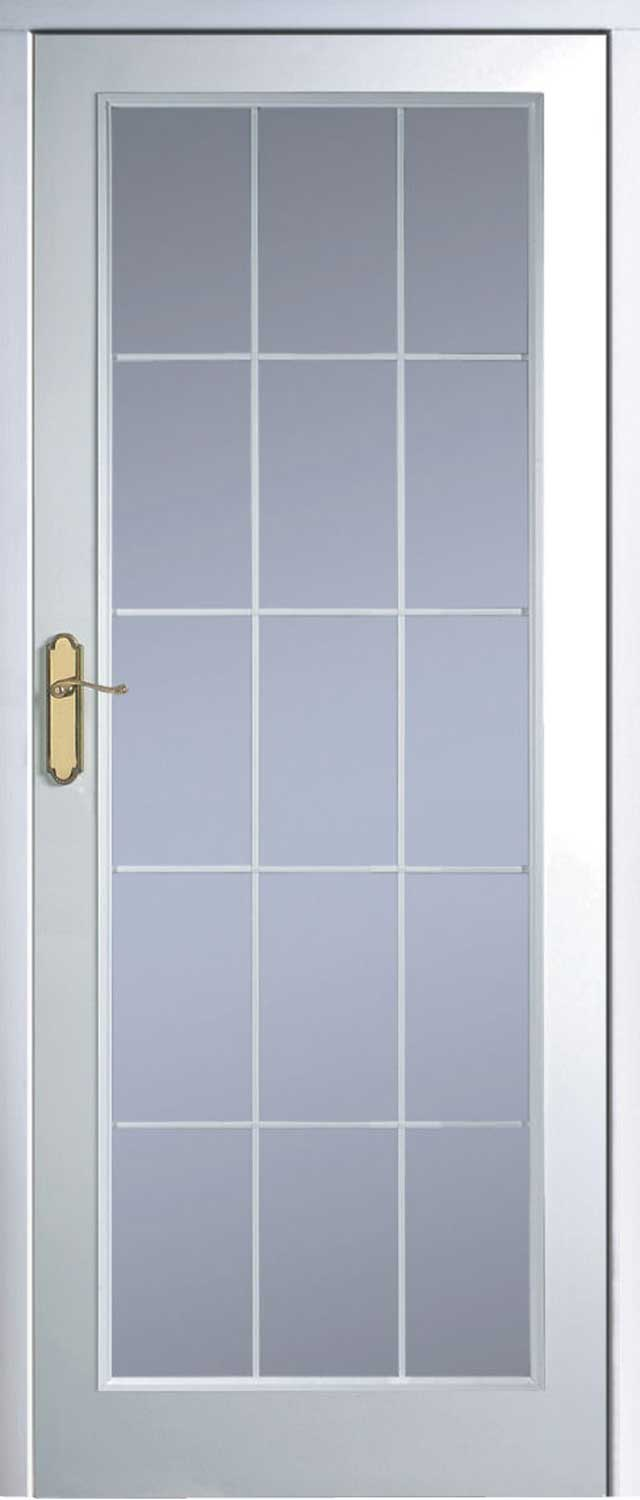 Manhatten 15 Light Textured White Primed Door
