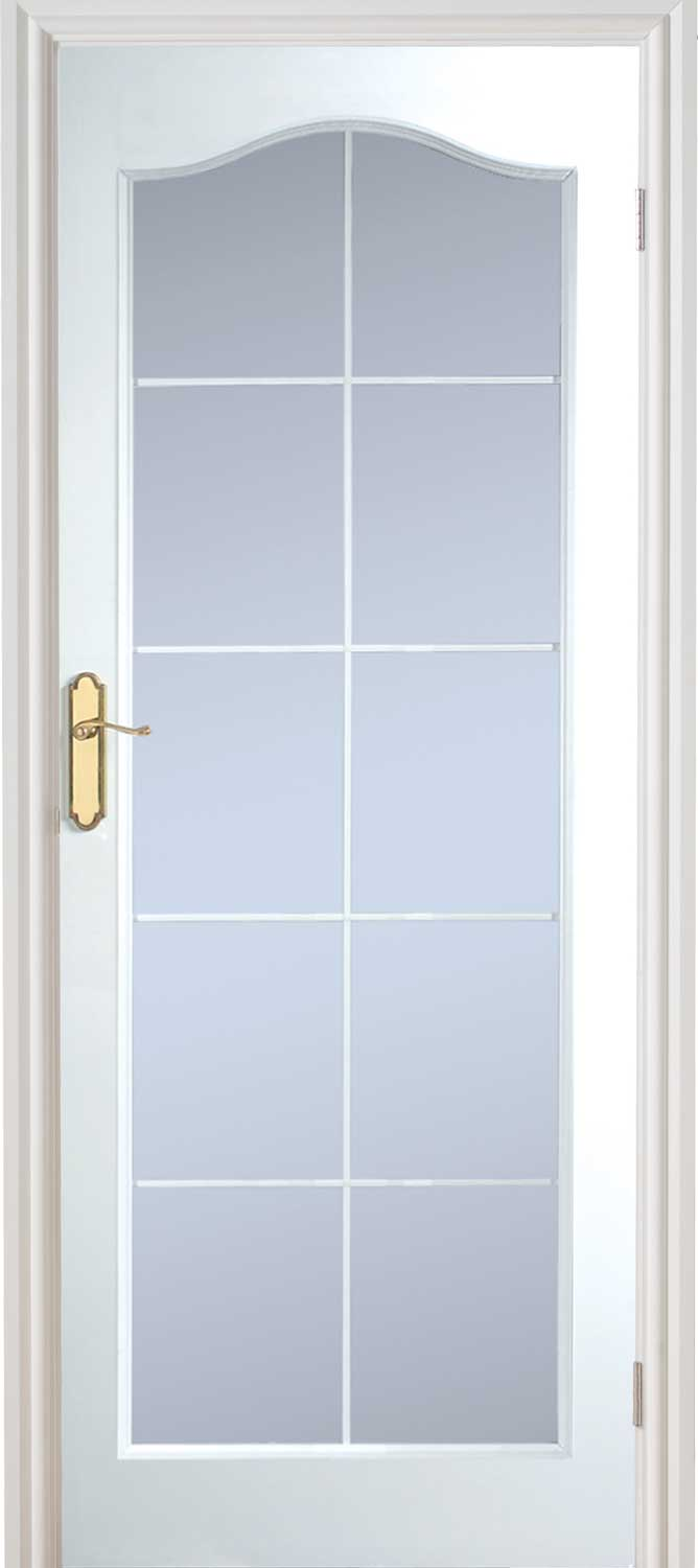 manhattan 10 light arched textured white primed door