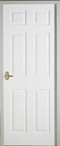 Regency 6 Panel Smooth White Primed Door