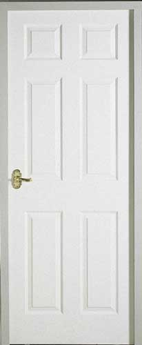 Regency 6 Panel Smooth White Primed Door on