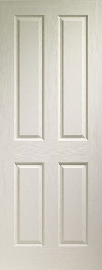 Victorian 4 Panel Textured White Primed Door