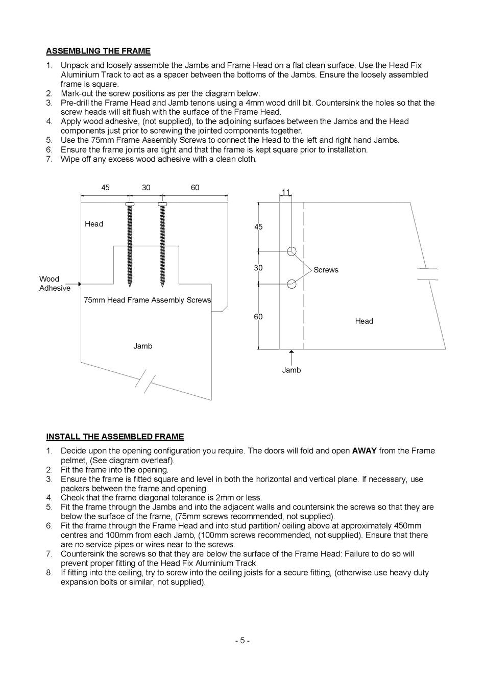 Inside doors - Interior door installation instructions ...